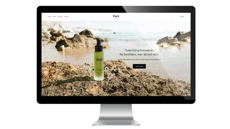 Curu Skin Website - FreshLeaf Marketing